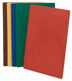 "Johnson-Rose 4331 Cutting Board, (Nsf), 12 X 18"" X 1/2"", Polyethylene, Color Coded, Red, 612941043314, Price/EA"