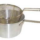 Johnson-Rose 56880 Fryer Pot 5-1/2 Qt Round Set, Including Aluminum Pot (#5915) And #6 Mesh Wire Basket (#5688)