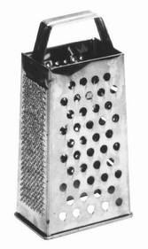 "Johnson-Rose 7344 All-Purpose Grater, 7-1/4"" X 4"" X 3-1/4"", Four Different Cutting Edges, Stainless Steel, 612941073441, Price/EA"