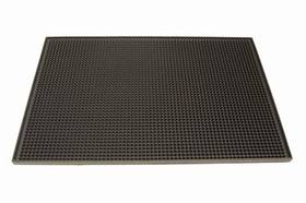 "Johnson-Rose 7962 Bar Service Mat, 12"" X 18"", Rubber, Black, 612941079627, Price/EA"
