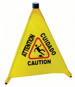 Johnson-Rose 8524 Floor Sign, Caution, 4-Faced. (Flashing Light Sold Separately If Required: Item# 1), 612941085246, Price/EA