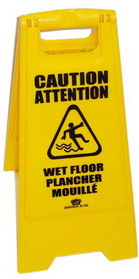 Johnson-Rose 85251 Floor Sign, Wet, Folding 2-Sided, Polpropylene. English And Spanish Both Sides, 612941852510, Price/EA