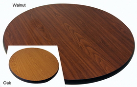"Johnson-Rose 91112 Table Top, Reversible (Oak/Walnut) 30 Round, 1"" Thick, 612941911125, Price/EA"
