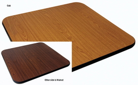 "Johnson-Rose Table Top, Reversible (Oak/Walnut), 30 X 30"", 1"" Thick , Price/EA"