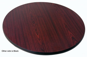 "Johnson-Rose 91211 Table Top, Reversible (Mahogany/Black), 24 Round, 1"" Thick, 612941912115, Price/EA"