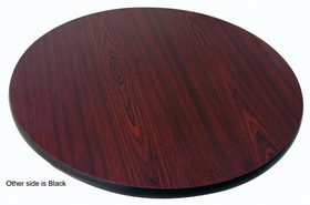 "Johnson-Rose 91212 Table Top, Reversible (Mahogany/Black), 30 Round, 1"" Thick, 612941912122, Price/EA"