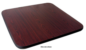"Johnson-Rose 91221 Table Top, Reversible (Mahogany/Black), 24 X 24"", 1"" Thick, 612941912214, Price/EA"