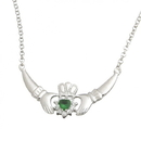 Guinness Official Merchandise PE4048 Emerald Claddagh Pendant On A Chain
