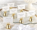 Kate Aspen Gold Kissing Bells Place Card/Photo Holder(Set of 24)