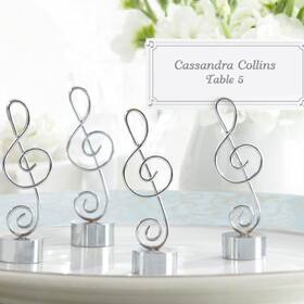 "Kate Aspen ""Love Songs"" Silver-Finish Music Note Place Card/Photo Holder (Set of 4)"