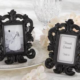 "Kate Aspen ""Black Baroque"" Elegant Place Card Holder/Photo Frame, 25067BK"