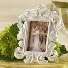 "Kate Aspen ""White Baroque"" Elegant Place Card Holder/Photo Frame"