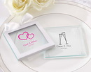 Kate Aspen Personalized Glass Coasters (Wedding) (Set of 12)