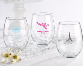 Kate Aspen Personalized Stemless Wine Glass 15 oz. (Wedding)