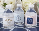 Kate Aspen 31300NA Personalized Water Bottle Labels - Kate's Nautical Wedding Collection
