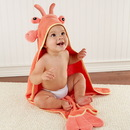 "Baby Aspen BA14013NA ""Lobster Laughs"" Lobster Hooded Towel (0-9 Months)"
