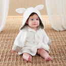 Baby Aspen BA14064NA Natural Baby Bamboo Bunny Hooded Spa Robe (Personalization Available)