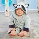 Baby Aspen BA14073RC Forest Friends Raccoon Hooded Spa Robe (Personalization Available)