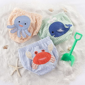 "Baby Aspen ""Beach Bums"" 3-Piece Diaper Cover Gift Set (6-12 Months)"