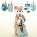 Baby Aspen BA15068NA Mr. Fox in Socks Plush with Socks for Baby