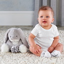 Baby Aspen BA16097PK Buddy the Bunny Plush Plus with Socks for Baby