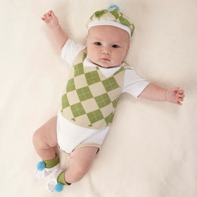 "Baby Aspen BA16016NA ""Sweet Tee"" Three Piece Golf Layette Set in Golf Cart Packaging"
