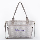Baby Aspen BA11059GR Baby Aspen 360 Signature Diaper Bag - Grey Chevron