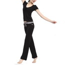 GOGO TEAM Women's Yoga Pants & Top Belly Dance Exercise Fitness Outfit