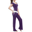 GOGO TEAM Women's Yoga Pants & Tank Top Set Belly Dance Exercise Fitness Outfit
