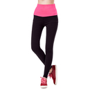 GOGO TEAM Women's Fold Over Yoga Running Pants Cropped Tights Capri Leggings