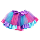 TopTie Girls Layered Rainbow Tutu Skirt Ballet Dance Party Dress Clubwear