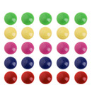 Officeship Assorted Colors Power Magnets, 3/4 inch Diameter, Price for 6 Boxes, 100 Pieces / Box