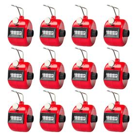 GOGO Hand Tally Counter, Plastic Clicker Counter, Black & Red (Wholesale Lot), Price/Dozen