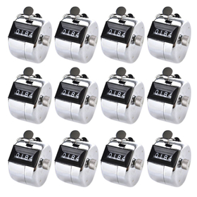 GOGO Hand Tally Counter, Metal Clicker Counters - Chrome Plated(Wholesale Lot), Price/Dozen