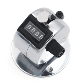 GOGO Hand Tally Counter With Base, Desktop Tally Counter, Mechanical Clicker - Chrome Plated (Wholesale Lot), Price/Dozen