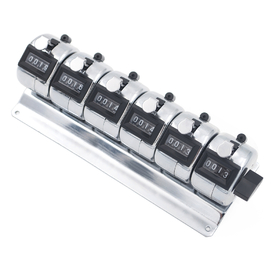 GOGO 6-Unit Counter, Desktop 6 Key Mechanical Tally Meter, Multiple-unit Tally Counter, Bank Counter