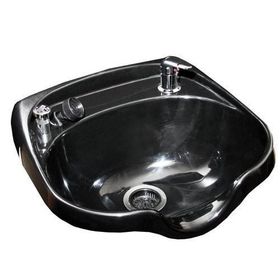 KELLER 8900-570VB Oval Shampoo Bowl with Vacuum Breaker, Black