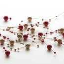 Keystone Candle BeadGarPearl-1038 Beaded Garland Pearl Red and Brown