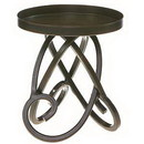 Keystone Candle DG-NAT2360 Metal Candle Holders Looped Legs 4.75 Inch