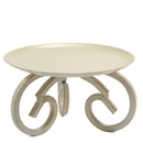 Keystone Candle DG-NAT4950 Scroll Metal Candle Holder 5 Inch Cream