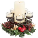 Keystone Candle POM670282 Pillar Candle and Tea Light Stand Traditions