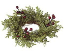 Keystone Candle SUL-MLF2 Burgundy Berry and Mini Leaf 2 Inch Ring