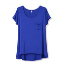 TopTie Women's Scoop Neck Jersey Tee Top T-Shirt With Pocket, Multiple Colors