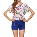 TopTie Women's Short Sleeve Chiffon Top T-shirt Blouses, Various Design