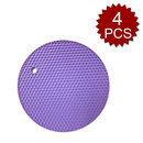 Aspire 4PCS Multipurpose Round Silicone Pot Holders, Jar Openers & Spoon Rests