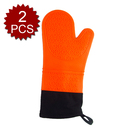 Aspire 2PCS Silicone Cooking Mitts, Potholder Gloves With Quilted Lining