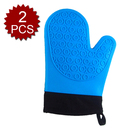 Aspire 2PCS Silicone Oven Gloves Mitts For Kitchen, With Cotton Lining