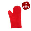 Aspire 2PCS Silicone Oven Mitts, Pot Holders For Baking & Barbeque