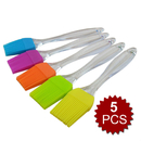Aspire 5 Pcs Pastry and Basting Brush Heat Resistant Silicone Kitchen Grilling
