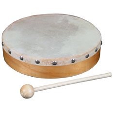 World Percussion - 8In. Wood Hand Drum W/ Head, Price/EACH